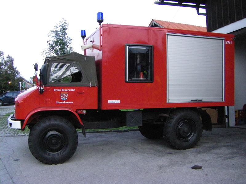 Der Schlauchwagen der Freiwilligen Feuerwehr Herrnhausen