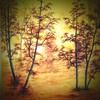 Herbstspaziergang 40x40 cm