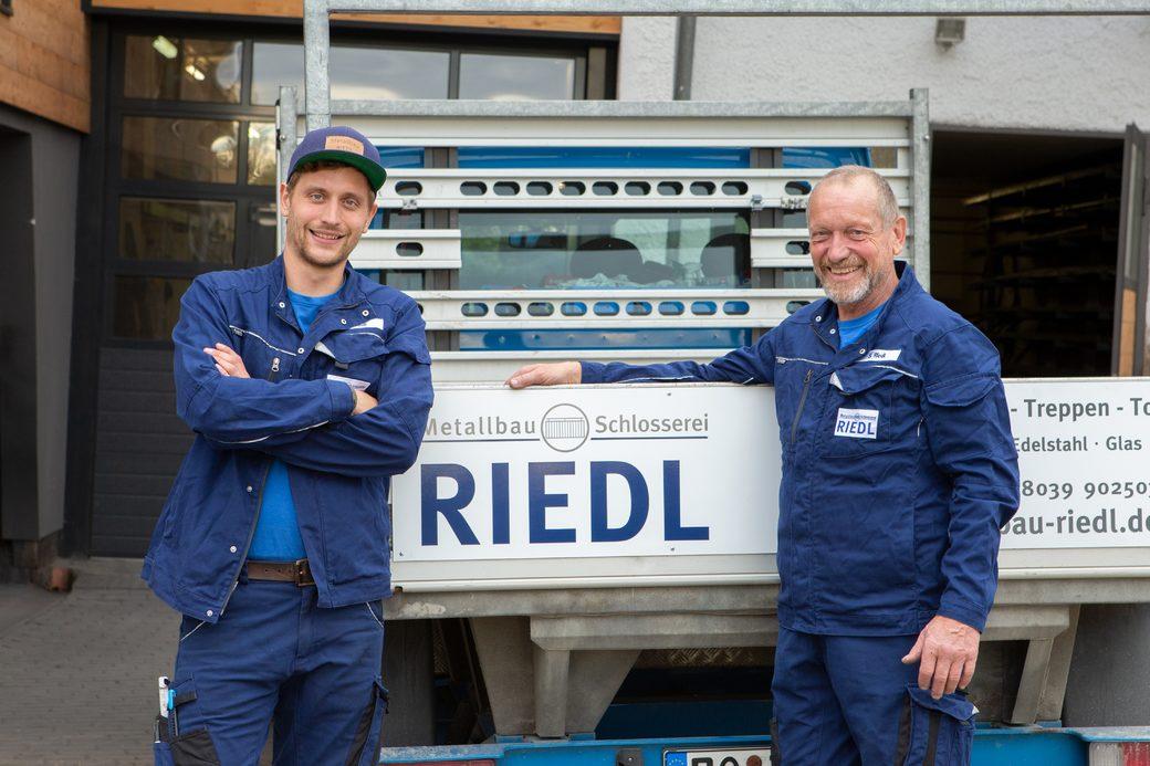 Metallbau Riedl Inhaber Korbinian und Sepp Riedl