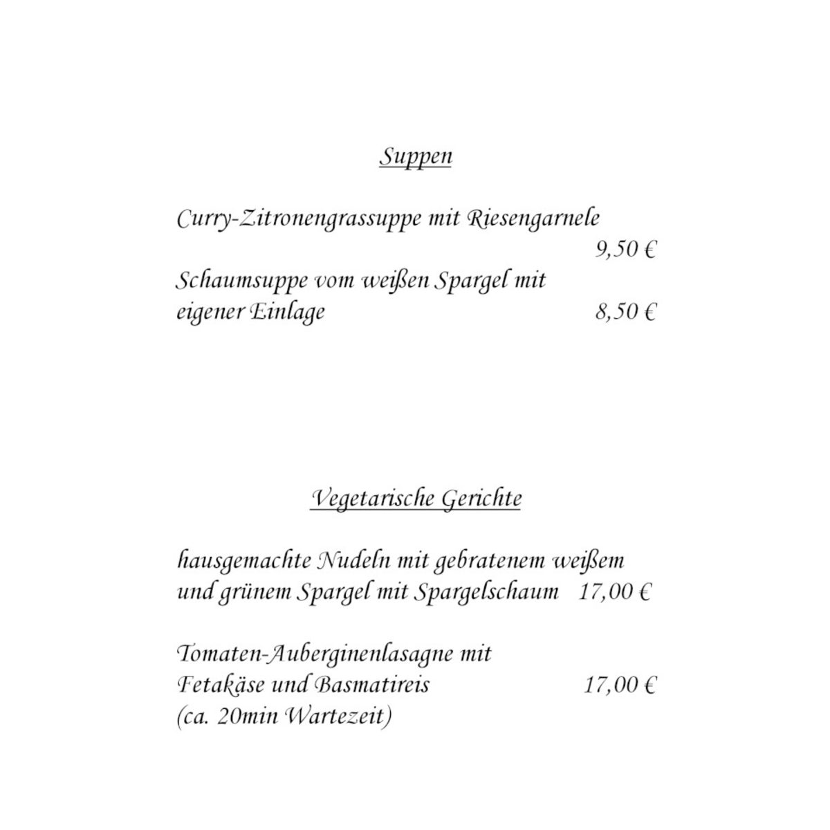 Restaurant Zum Stübchen - anspruchsvolle Küche mit französischer ...