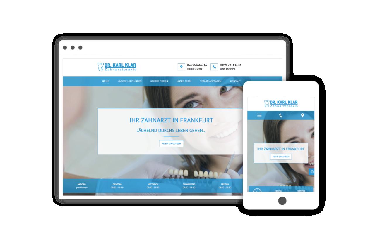 Webdesign für Zahnarzt