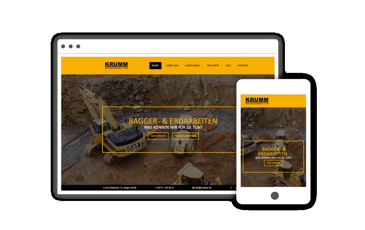 Webdesign für Bauunternehmen