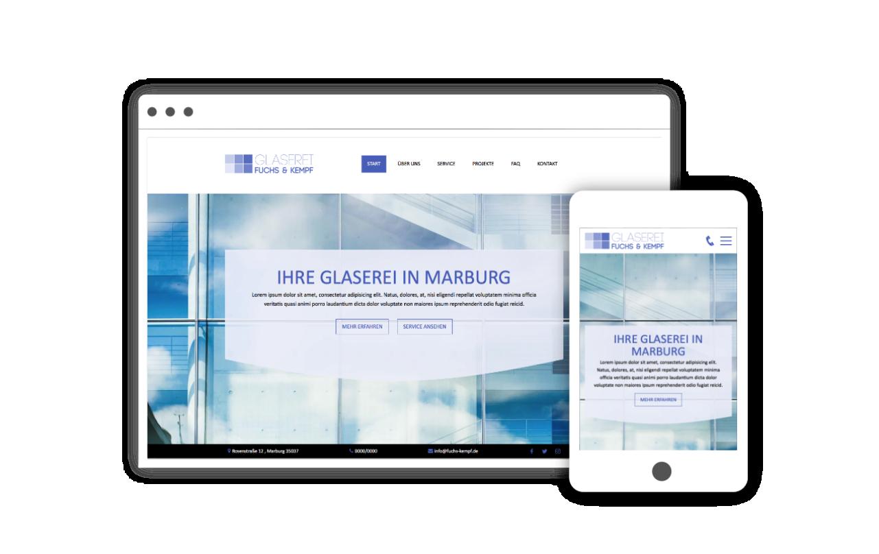 Webdesign für Glaserei