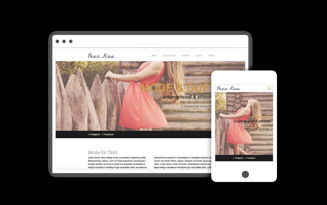 Webdesign für Mode