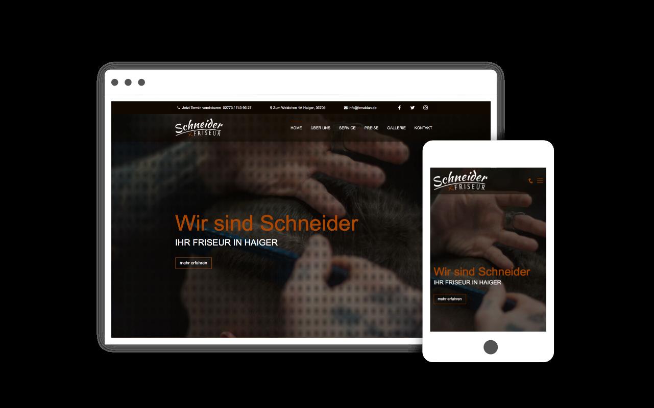 Webdesign für Friseur