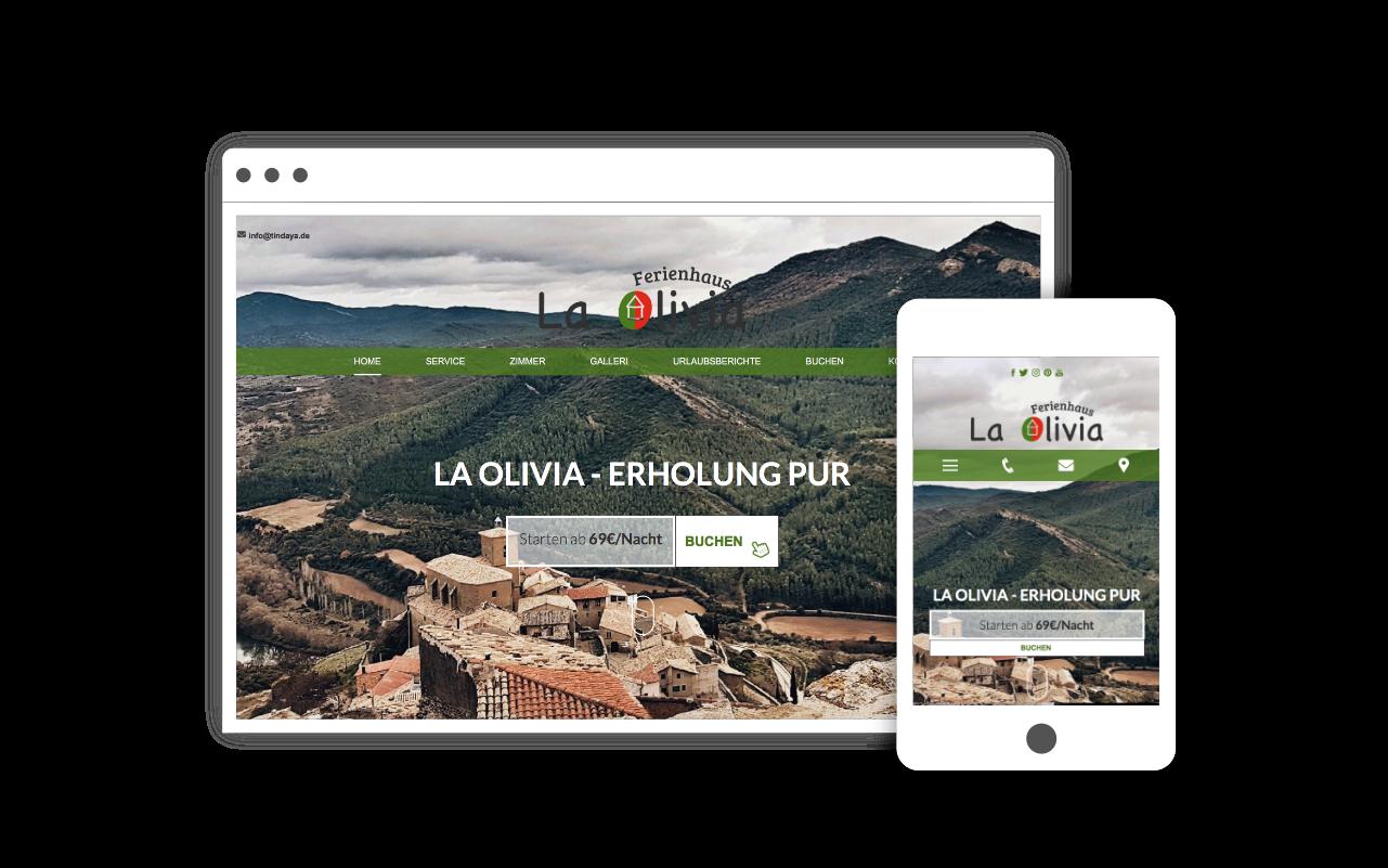 Webdesign für Ferienhaus