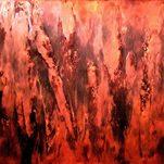 Roter Regen 50x50 cm