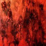 Roter Regen 2, 50x50 cm