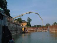 Unterwasserbeton / UW-Beton und Sohlenvorbereitung