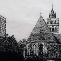 Oderturm und Marienkirche in FFO