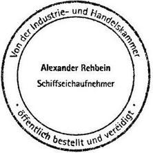 Alexander Rehbein Schiffseichaufnehmer