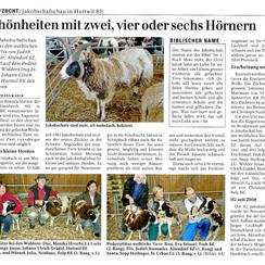 """Dieser Artikel über unsere 5. Jakobschafschau wurde am 14.10.2013 in der Zeitschrift """"Schweizer Bauer"""" veröffentlicht."""