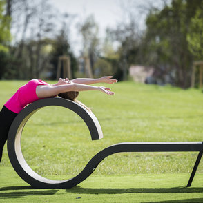 Outdoor-Fitness Stretching Bank JFI-0701