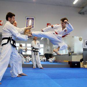 Bruchtests in der Kampfsportschule Jena