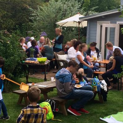 erstes gemeinsames Gartenfest der Buchfinken 2015