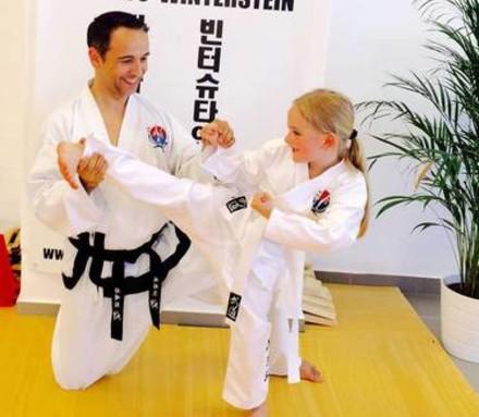 Kindertraining im Karate