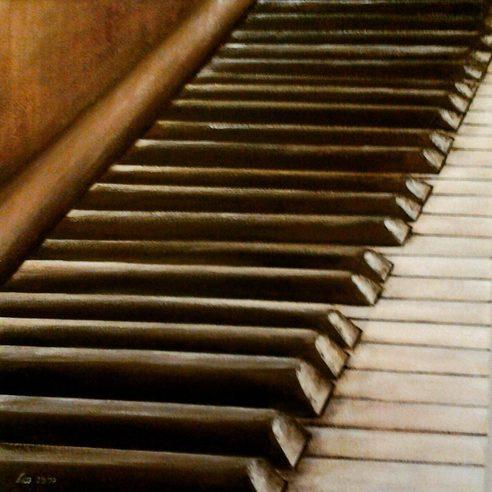Das alte Klavier 50x50 cm (nicht mehr in meinem Besitz)