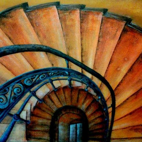 Treppenfenster (Motiv Michael Ahrendt)