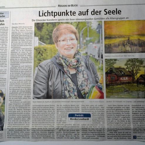 Oranienburger Generalanzeiger vom 11.6.2015