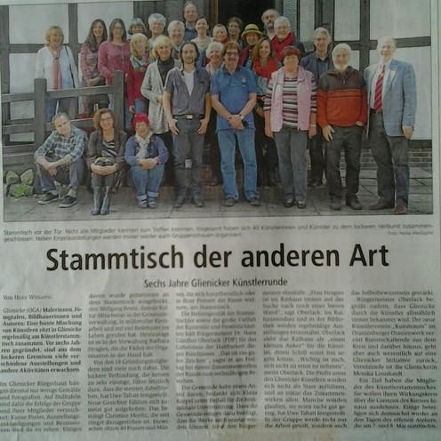 Oranienburger Generalanzeiger 9.4.2016