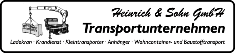 Heinrich & Sohn GmbH - Transportunternehmen Berlin