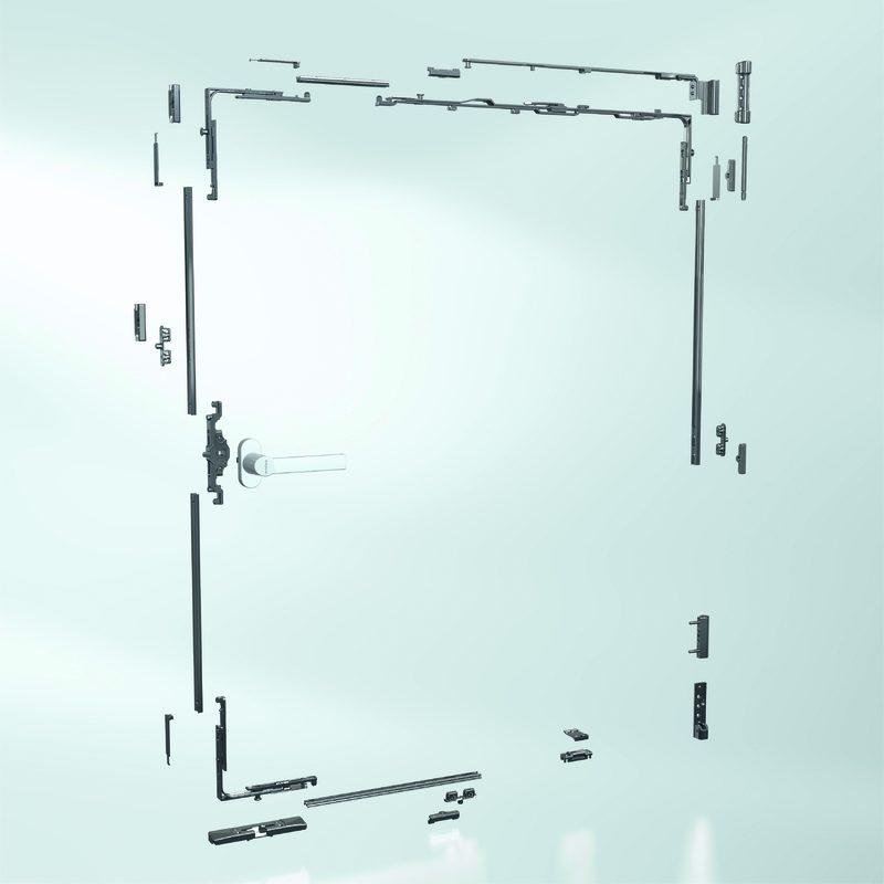 Riegelstangenbeschlag für Kunststoff-Fenster