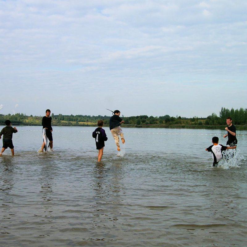 Kick-Training im Wasser